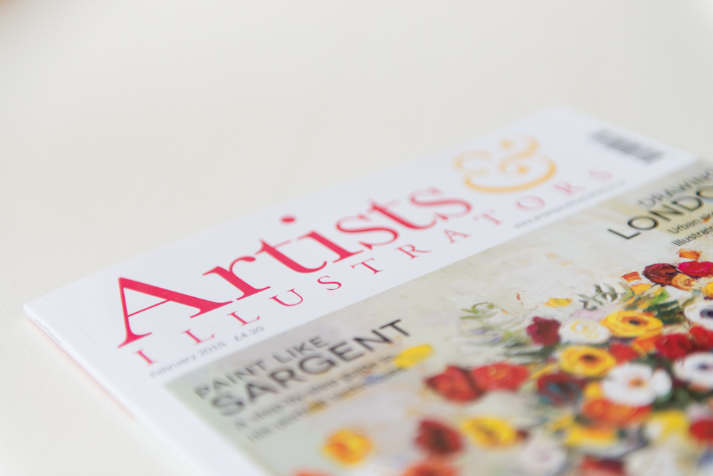 Artists and Illustrators Magazine, Peterborough Commercial Photographer, Stamford Commercial Photographer