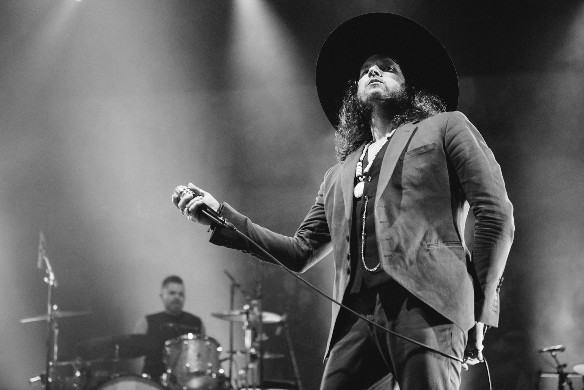 Music photographer from Leeds, Jay Buchanan and Michael Miley of Rival Sons